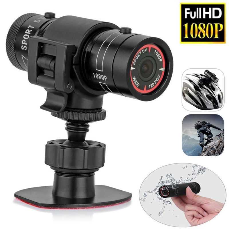 TTKK Mini Camcorder F9 HD 1080P Bike Motorcycle Helmet Sport MINI Camera Video Recorder DV Camcorder-hipnfly-hipnfly