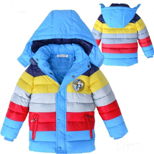Kids coat 2019 Autumn Winter Boys Jacket for Boys Children Clothing Hooded Outerwear Baby Boy Clothes 4 5 6 7 8 9 10 11 12 Year-hipnfly-as picture 2-4T-hipnfly