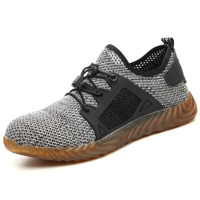 Indestructible Sneaker Shoes Indestructible Safety Shoes-hipnfly-H03 gray-5-hipnfly