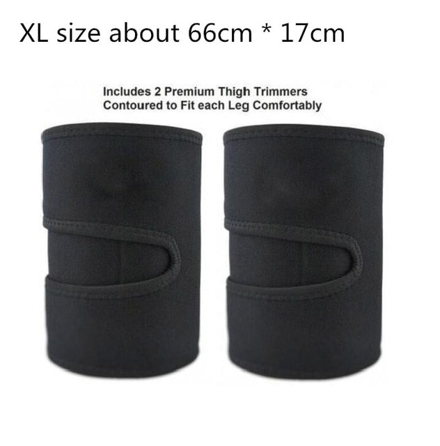 Leg Shaper Sauna Sweat Thigh Trimmers Calories off Anti Cellulite Weight Loss Slimming Legs Fat Thermo Neoprene Compress Belt-hipnfly-Black without box XL-hipnfly