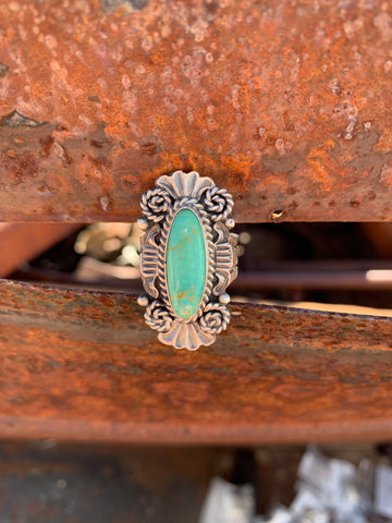 Green Kingman Turquoise ring size 9
