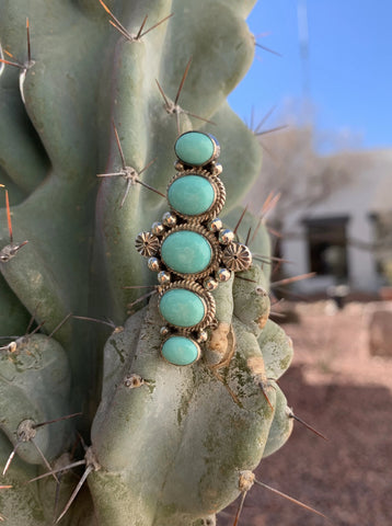 Campitos Turquoise 5 Stone ring size 8