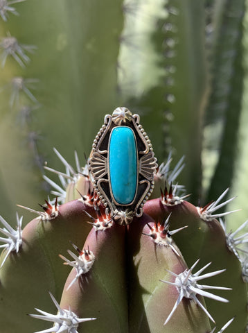 Intricate Campitos Turquoise ring size 8