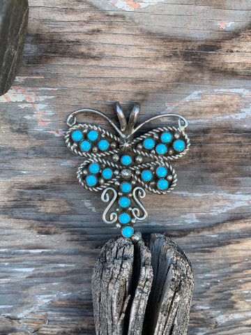 Dragonfly Turquoise Pendant