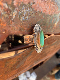 Green Kingman Turquoise ring size 8 1/2