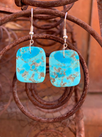 Slabs of Kingman Turquoise earrings