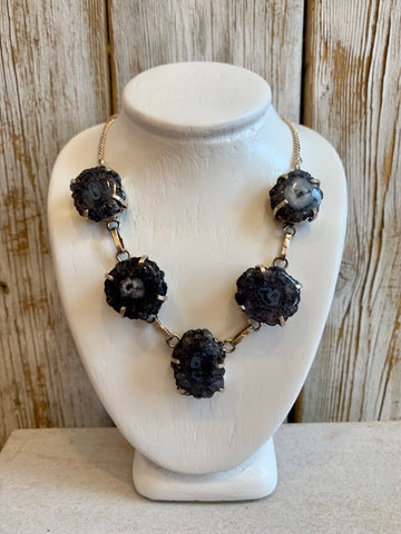 Black Solar Quartz necklace