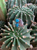 Sleeping Beauty Turquoise Double Nugget ring size 7 1/4