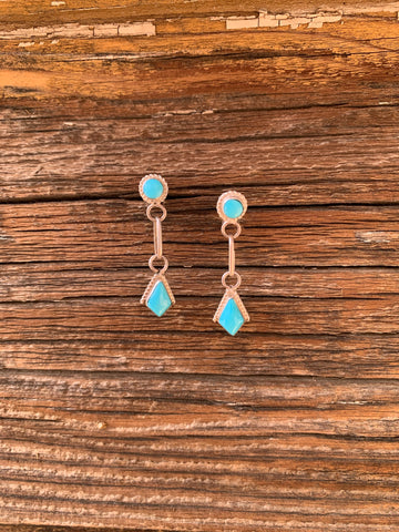 Delicate Kingman Turquoise Dangle earrings