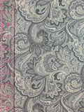 Fashionable Face Mask in Grey & Tan Paisley