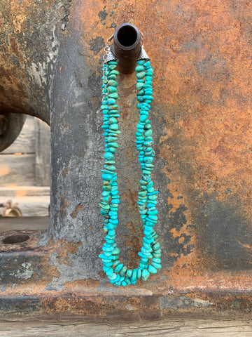 Double Layer Turquoise Bead necklace