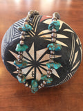 Turquoise Nugget & Navajo Pearl Vintage necklace