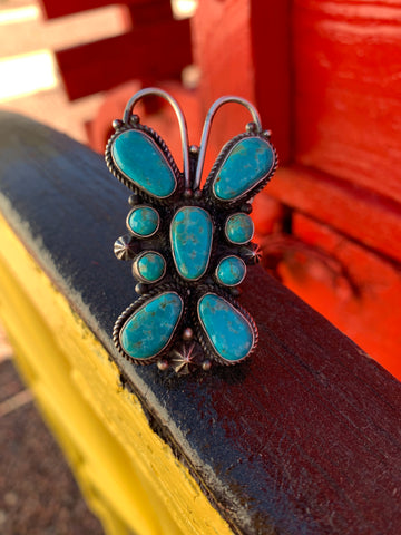 Butterfly of Kingman Turquoise ring size 7 1/2