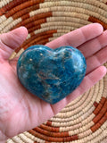 Blue Apatite Gemstone Carved Heart