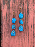 Freeform Kingman Turquoise earrings