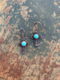 Cross Turquoise Vintage earrings