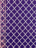 Fashionable Face Mask in Purple Quatrefoil