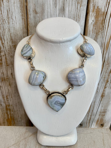 Blue Lace Onyx necklace