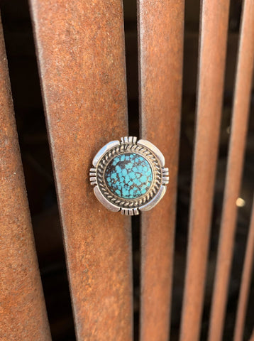 Kingman Spiderweb Turquoise ring size 7 1/2