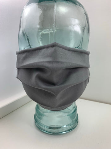 Fashionable Face Mask in Grey Solid