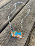 Large Spiny Oyster & Turquoise Bar necklace