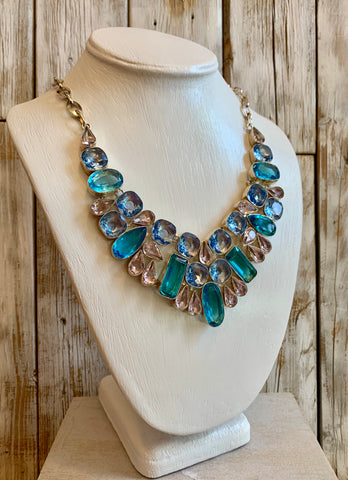 Blue Topaz Quartz necklace