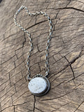 Oval White Buffalo Pendant necklace