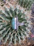 Number 8 Turquoise ring size 7 1/2