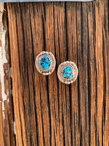 Sleeping Beauty Turquoise post earrings