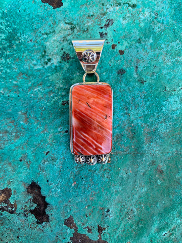 Red Spiny Shell pendant