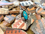 Vintage Feather Turquoise ring size 8