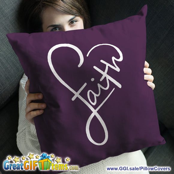 Faith Soft Beautiful Throw Pillow Cover