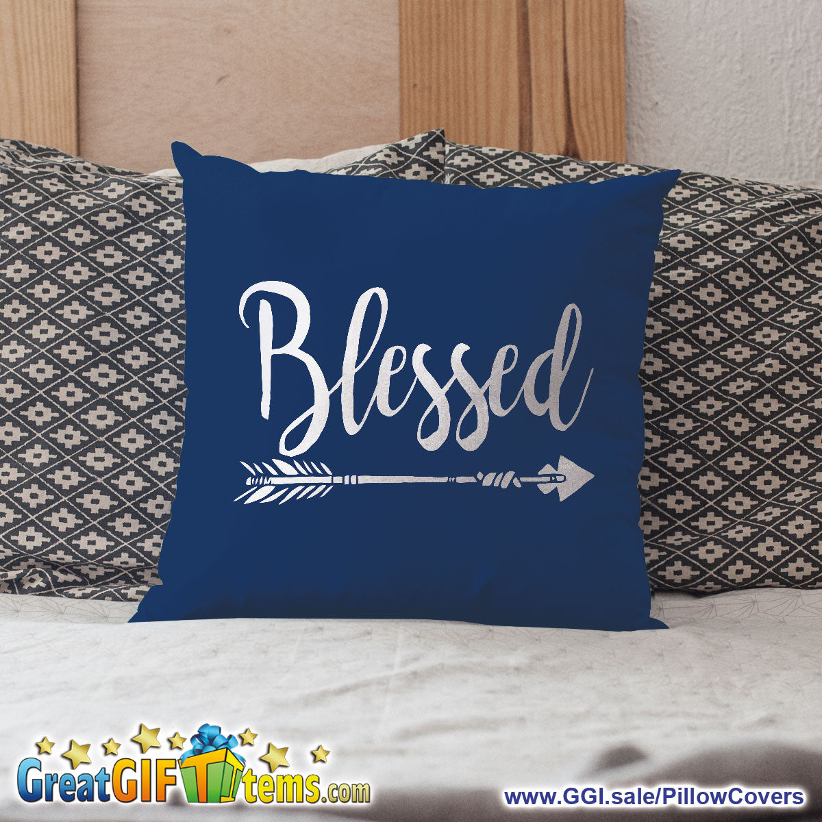Blessed Straight Shooting Arrow Throw Pillow Cover