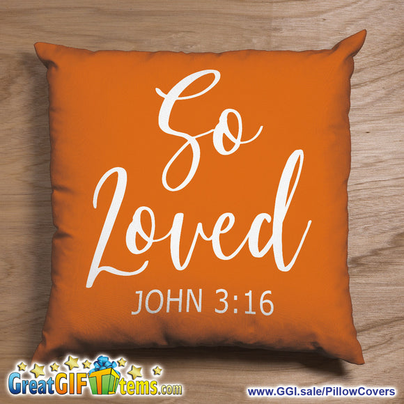 So Loved John 3:16 Throw Pillow Cover