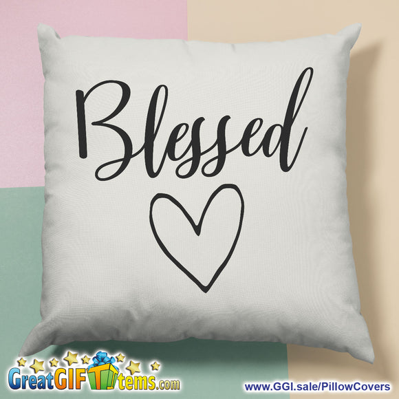 Blessed Loving Heart Throw Pillow Cover