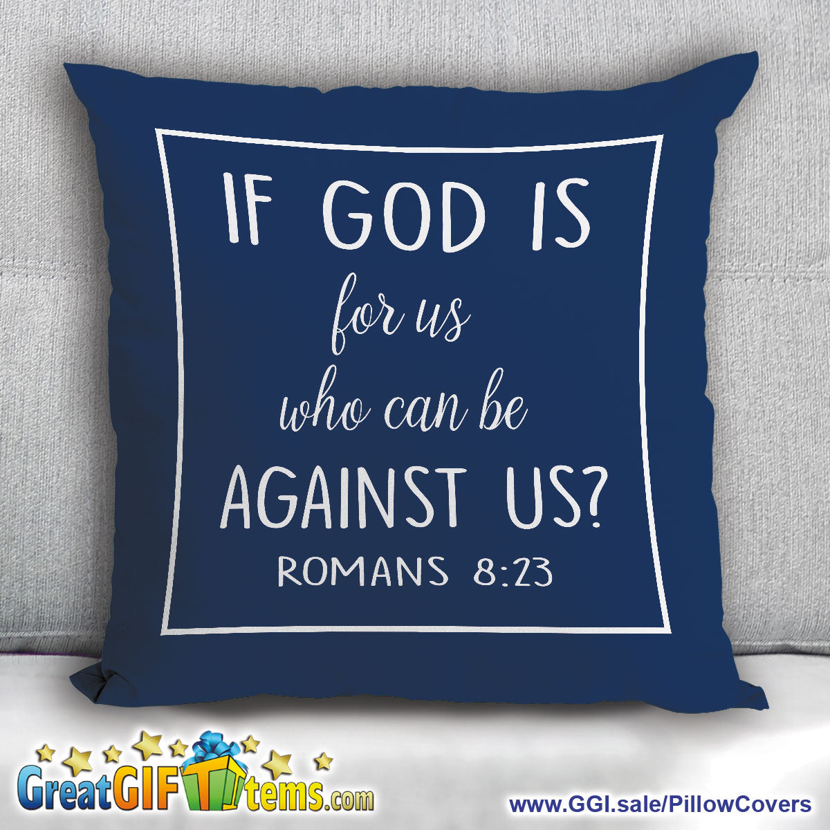 If God Is For Us Who Can Be Against Us Throw Pillow Cover