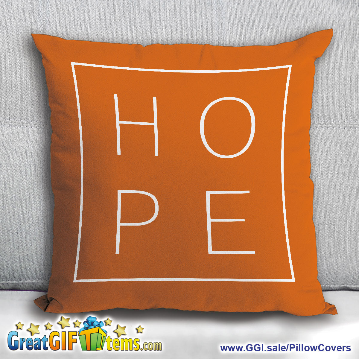 Hope Beautiful Soft Throw Pillow Cover