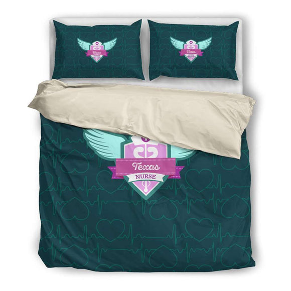 Green Texas Nurse Bedding Set - GreatGiftItems.com