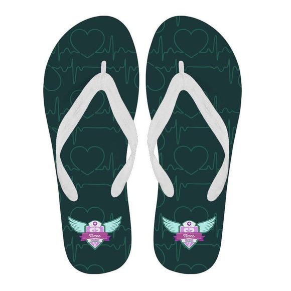 Lady's Green Texas Nurse Flip Flops