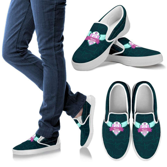 Lady's Green Texas Nurse Slip-On Shoes