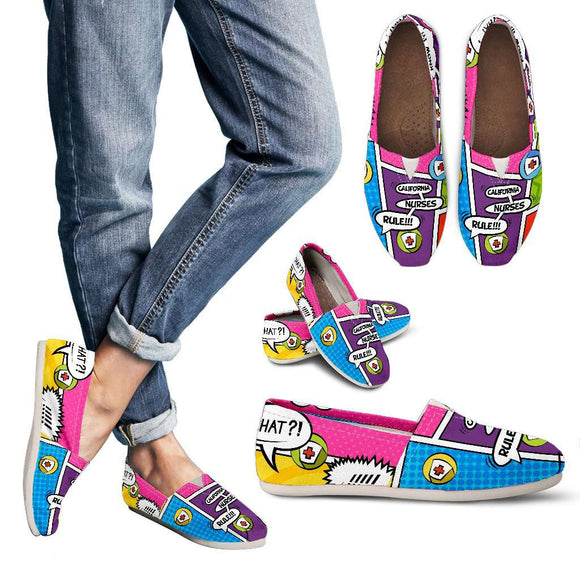 Lady's Comic Book California Nurse Casual Canvas Shoes