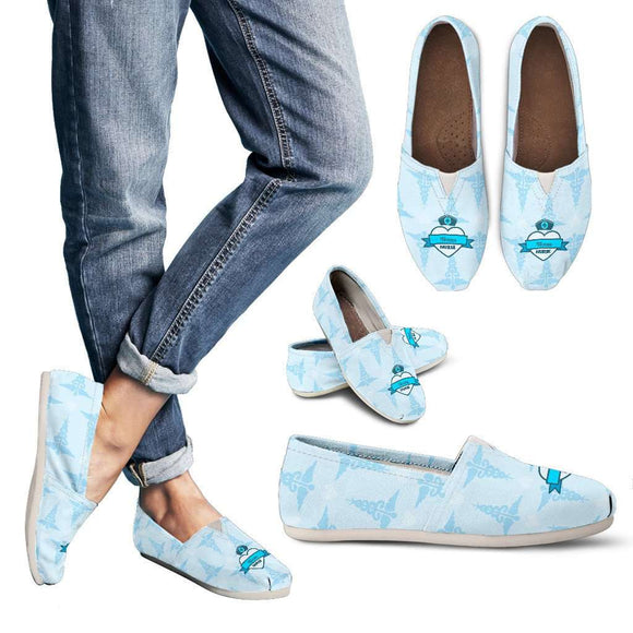 Lady's Blue Texas Nurse Casual Canvas Shoes