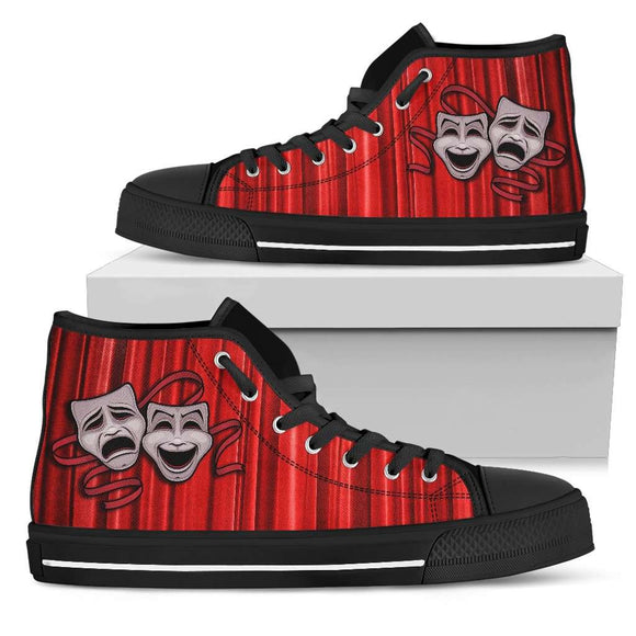 Theater Livers Black High Top Canvas Shoes
