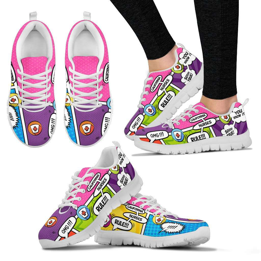Lady's Comic Book California Nurse Sneakers