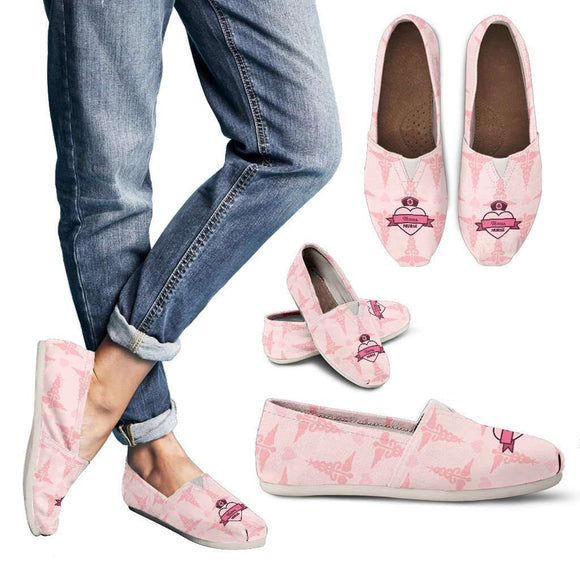 Lady's Pink Texas Nurse Casual Canvas Shoes
