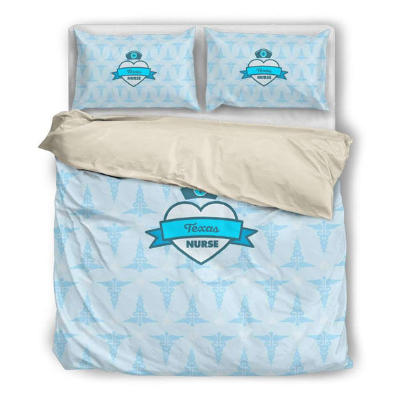 Blue Texas Nurse Bedding Set - GreatGiftItems.com