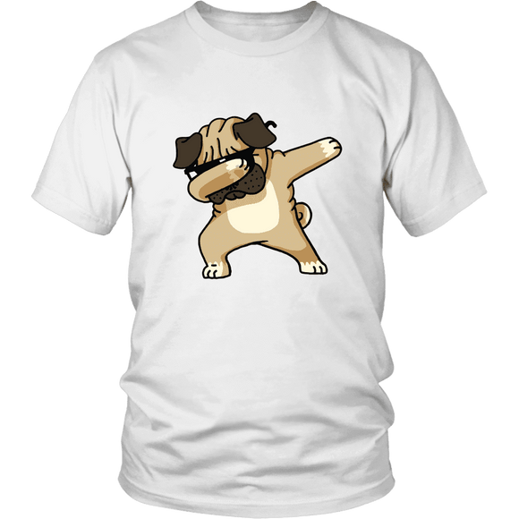 + Hip Hop Dabbin Pug Men's Or Women's Unisex T-Shirt - GreatGiftItems.com