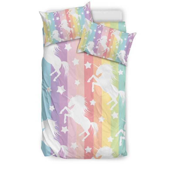 # Unicorn Bedding Duvet Set With Comforter Cover and Two Pillow Cases