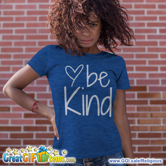 Be Kind Heather Color T-Shirt