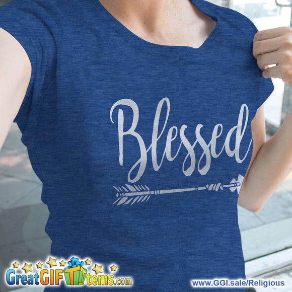 Blessed Straight Arrow Heather Color T-Shirt